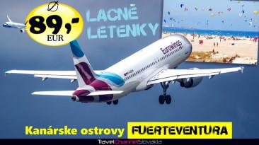 FUERTEVENTURA ZA 89 EUR – NAJLACNEJŠIE LETENKY (0005L)